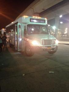 Notre bus à JFK !