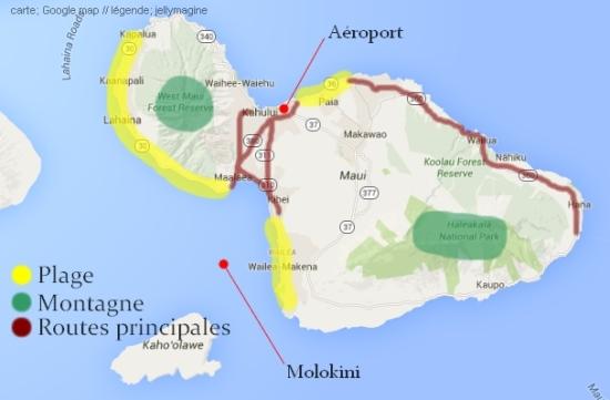 Carte de Maui